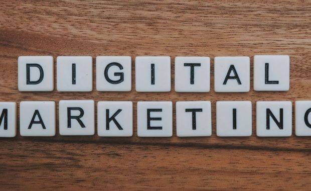Signs that reads 'digital marketing'